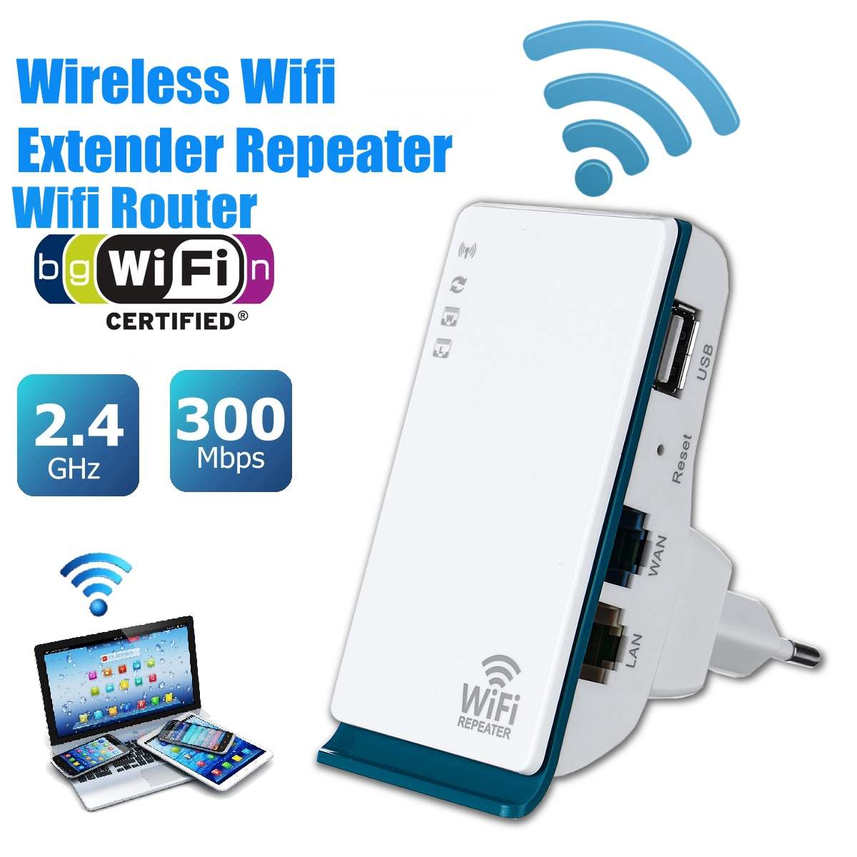 LEORY 300Mbps Wireless Wifi Repeater 2.4G Router Signal Booster Extender Hotspot WiFi signal amplifier