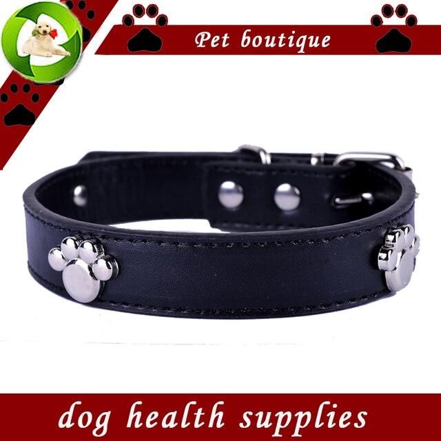 Collari di Cane di modo Personalizzato Zampa Accessori Pu Collare di Cuoio Nero
