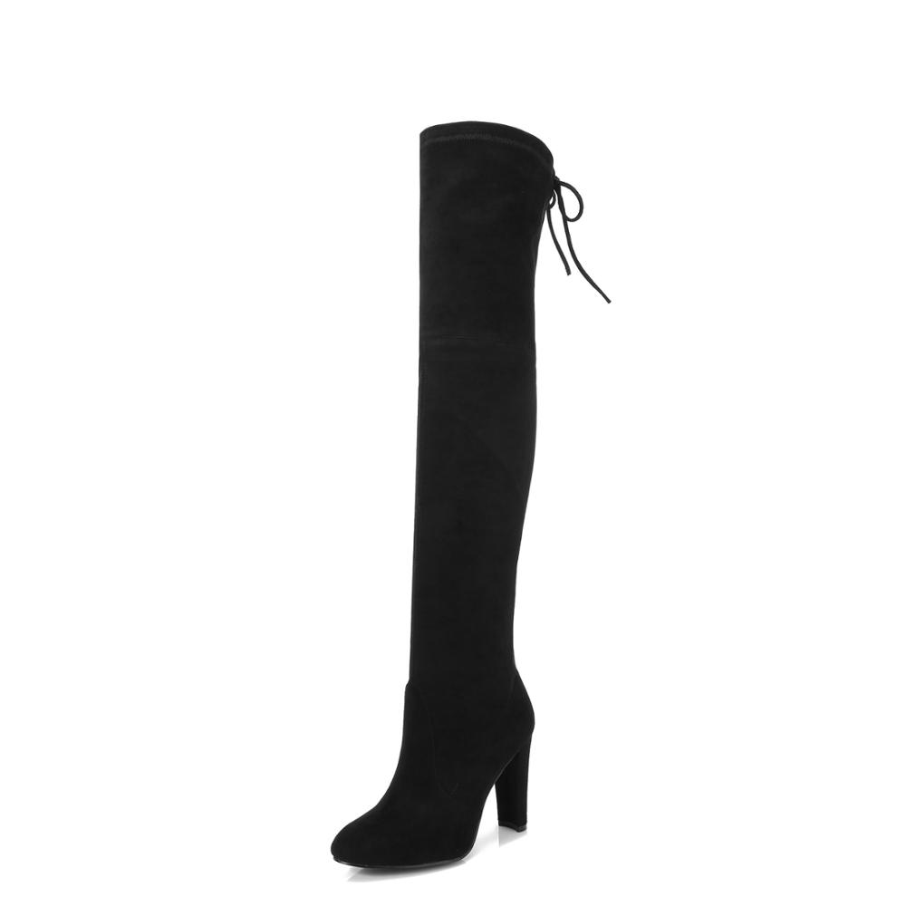 09fbb53f2b90e 2018 Ohadventure Ladies Shoes Woman Leather Winter Womens Booties zapatos  mujer botas over the knee boots knee high boots-in Over-the-Knee Boots from  Shoes ...