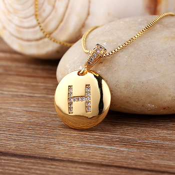 Customizable Letter Gold Pendant Necklaces 2