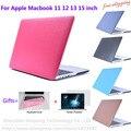 Матовый Футляр Чехол для Macbook Pro 13.3 15.4 Pro Retina 12 13 15 дюймов Macbook Air 11 13 Ноутбук Shell + Протектор Экрана фильм
