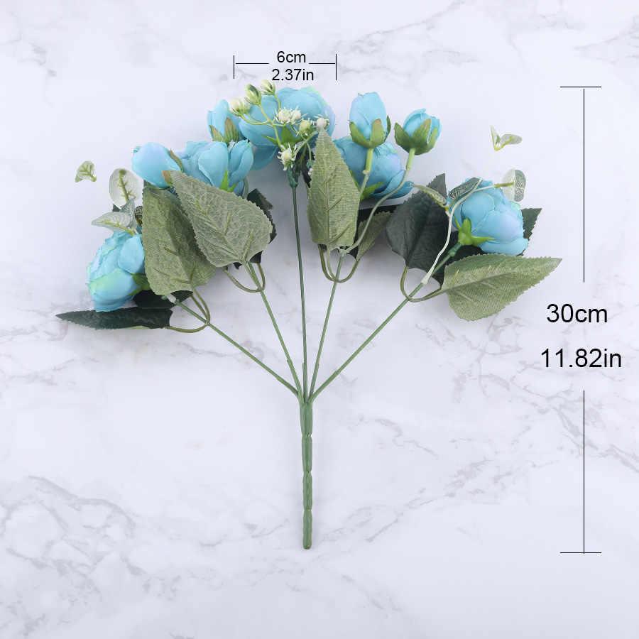 30 Cm Hoa Hồng Lụa Màu Hồng Hoa Mẫu Đơn Hoa Giả Hoa 5 Đầu Lớn Và 4 Nụ Giá Rẻ Hoa Giả Cho Gia Đình đám Cưới Trang Trí Trong Nhà