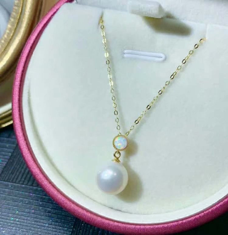 shilovem 18k yellow gold Natural pearls pendants fine Jewelry women trendy no necklace party new gift plant mymz9 5 10888zz in Pendants from Jewelry Accessories
