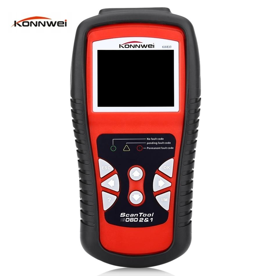 ФОТО Konnwei KW830 Car Scaner Code Reader OBD2 Car Diagnostic Scan Tool LCD Screen OBDII  Professional Solution Auto Diagnostic Tool