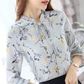 Spring Shirt Women 2017 Woman Chiffon Blouse Long Sleeve New Casual Fashion Floral Print Tops Women's Clothing
