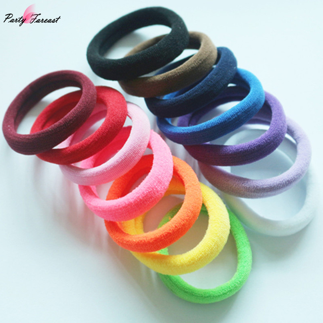 5pcs Kids Hairband Rubber Bands Girl Headwear Elastic Hairband Colorful Ties Ela