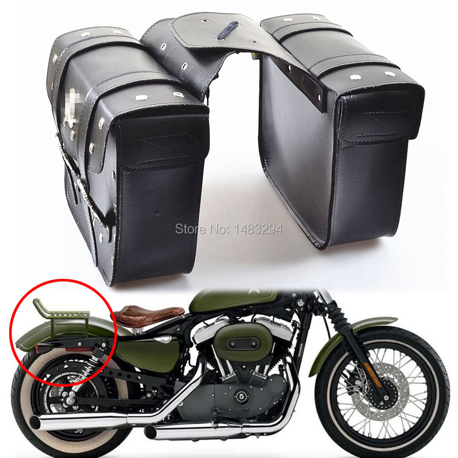 New motorcycle saddlebags saddle bags pouch fit for harley for Motor cycle saddle bags