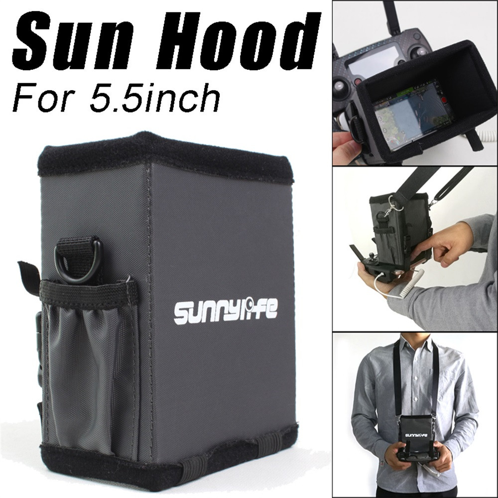 Premium Monitor Sun Hood Sunshade Cover for 5.5inch Phones for DJI Mavic 2 PRO /Zoom Drone Accessories 20J Drop ShippingPremium Monitor Sun Hood Sunshade Cover for 5.5inch Phones for DJI Mavic 2 PRO /Zoom Drone Accessories 20J Drop Shipping