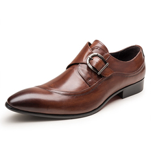 Luxury Designer Formal Men Dress Shoes Fashion Genuine Leather Classic Shoes Oxfords For Wedding Office Business JS-A0041 цена 2017