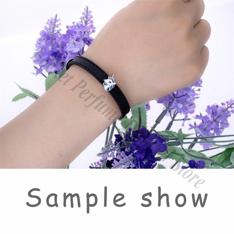 10pcs 8mm 10mm Genuine Real Leather Wristband Bracelet Fit 8mm 10mm Slide Charms Slide Letters Women Men Jewelry Making