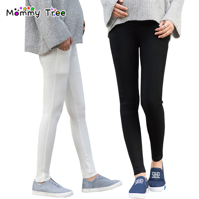 New Spring Washed Maternity Pencil Pants Elastic Slim Pencil Legging ...