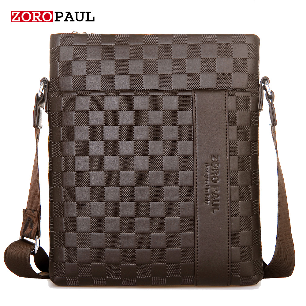 Zoro Paul Famous Brand PU Leather Men Bag Casual Business Leather Mens Messenger Bag Vintage Men's Crossbody Bag Bolsas For Male polo men shoulder bags famous brand casual business pu leather mens messenger bag vintage men s crossbody bag bolsa male handbag
