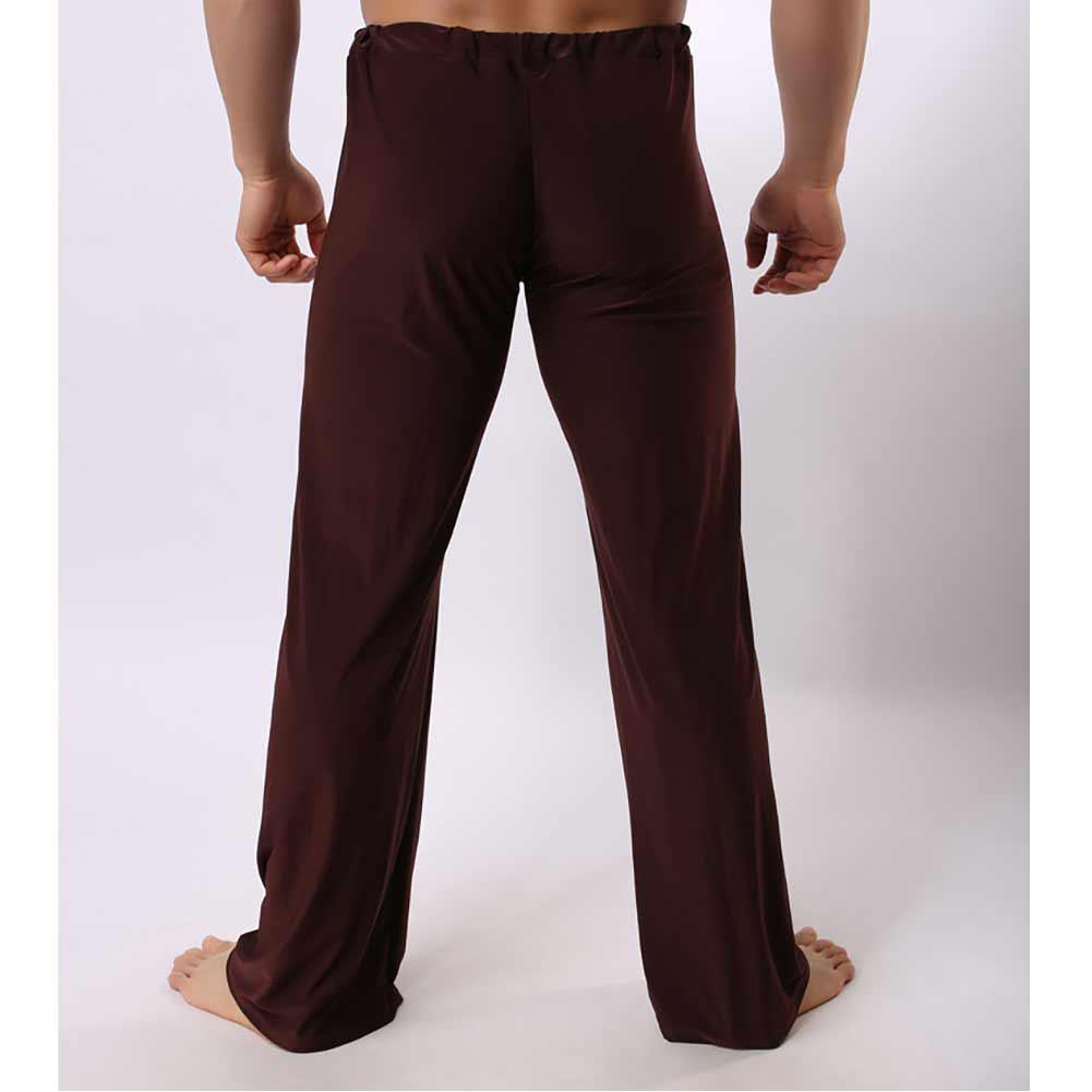 mrwonder Men Milk Silk Breathable Quick Dry Casual Pants Homewear Loose Solid Color Long Pants
