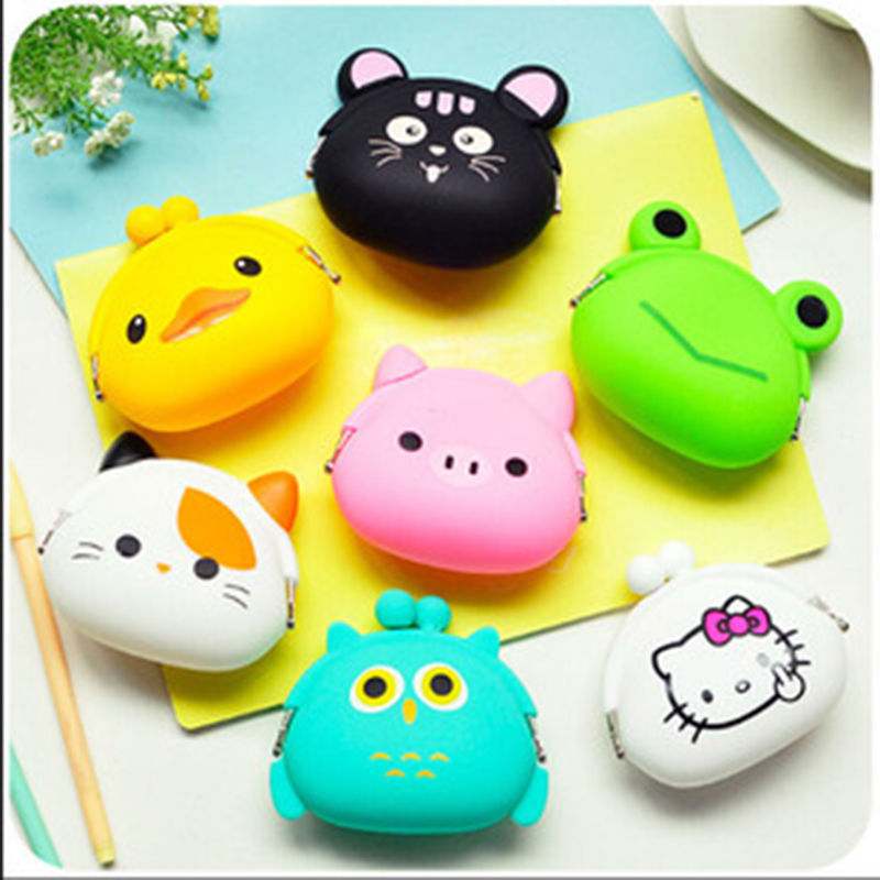 Cute Small Coin Purse For Girls Women Key Holder Money Wallet Animals Shaped Change Purses Earphone Cute Bag Children Kids Gifts