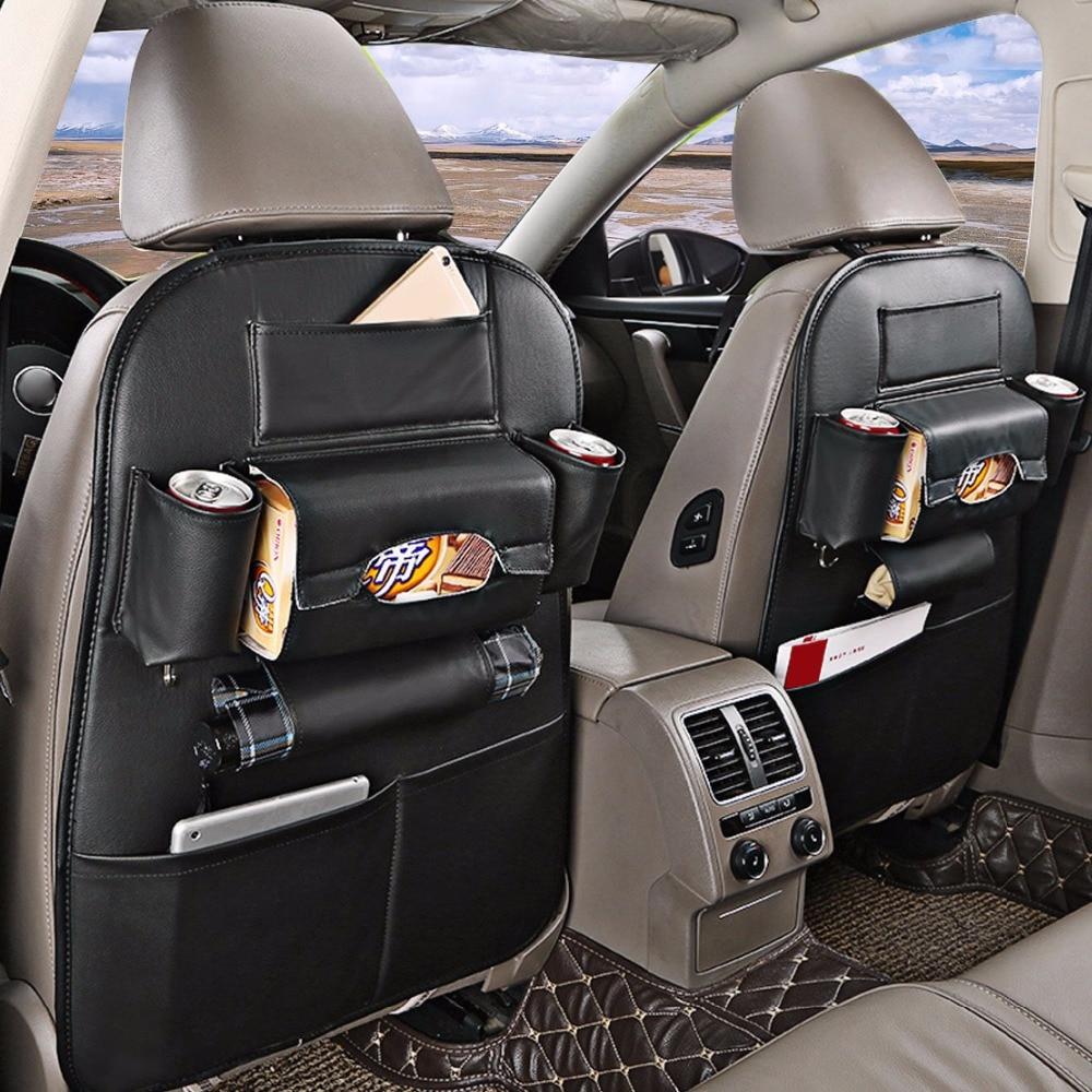 dwcx car multi pocket man made leather seat back bag organizer storage holder tidy pouch for vw. Black Bedroom Furniture Sets. Home Design Ideas