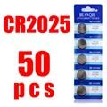 Frete grátis Para assistir bateria da Tecla 3 V CR2025 DL2025 ECR2025 BR2025 Assista Botão Coin Bateria de Células De Lítio 50 Pcs