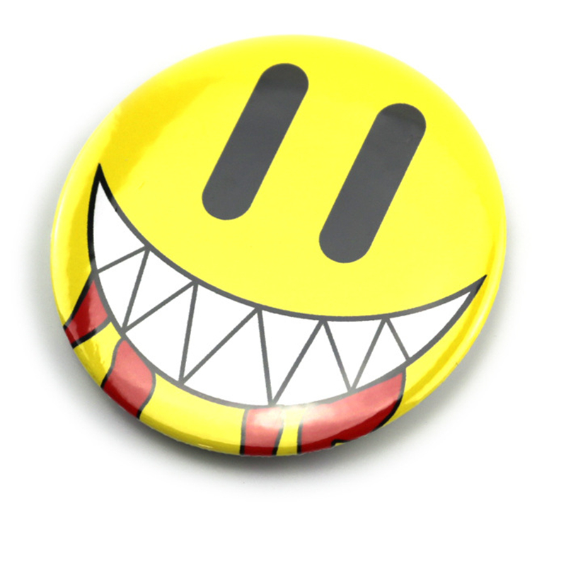 2018 Anime Badge Hot Games DRAMAtical Murder Noiz Cosplay Smiley Face Badge In Knapsack Adges Kawaii For Clothing Badges