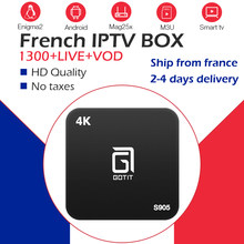 French iptv subscription+android tv box s905 1800 NEO TV&VOD best Belgium Arabic iptv france for smart ip tv box better x96 mini(China)
