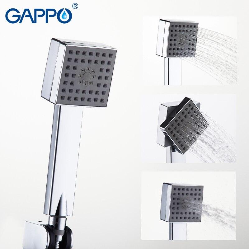 GAPPO Shower Head bathroom hand shower ABS water saving shower head chrome water nozzle shower rainfall showerhead
