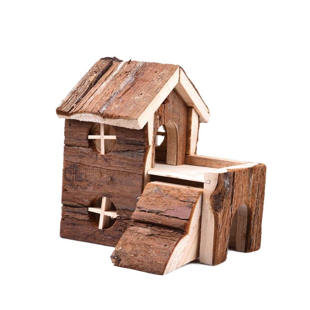 Casa de madera de dos pisos Casa exquisita cama para ardilla de - Productos animales