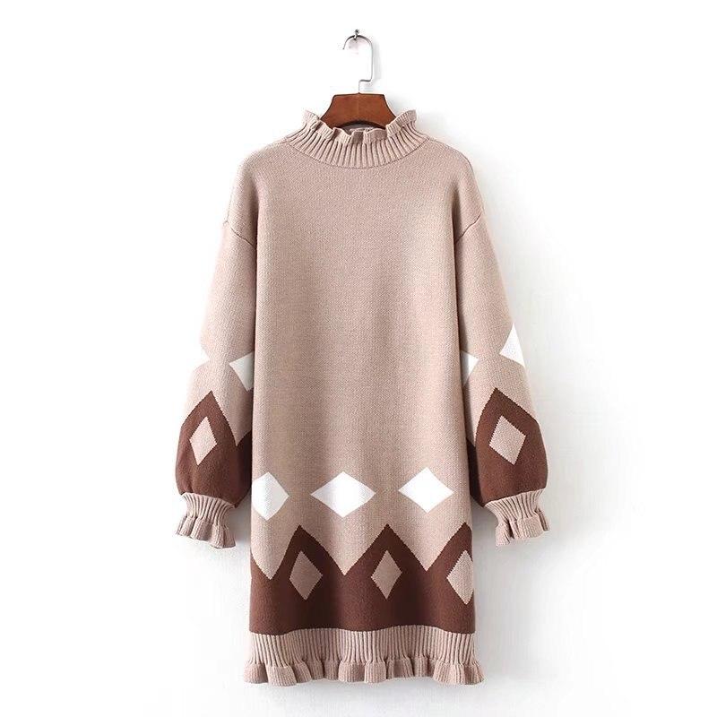 fashion women clothing winter sweater dresses women 2017 ...