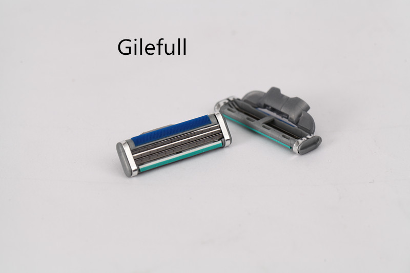 Gilefull Turbo! 4 шт./лот лезвия Марка m3 Лезвие Бритвы Точилка лезвия для бритья Лезвия для мужчин бритья Кассеты