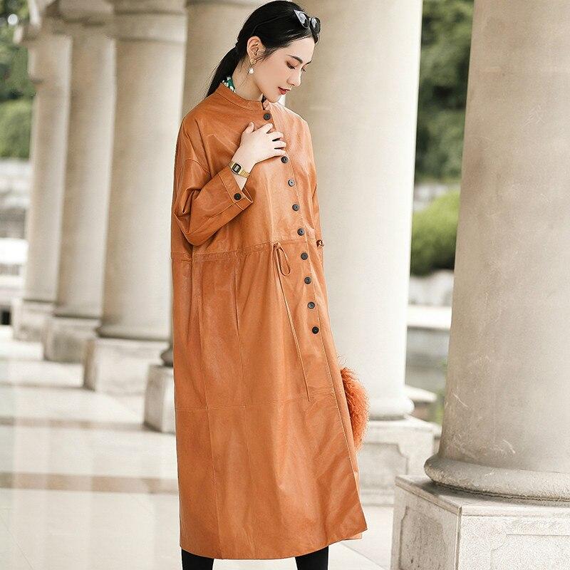 Automne hiver véritable veste en cuir véritable femmes vêtements 2019 Streetwear en peau de mouton manteau coréen Vintage coupe-vent hauts ZT3475
