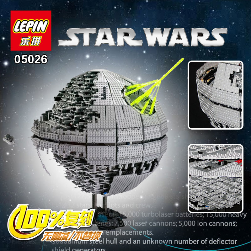 IN STOCK 3449pcs LEPIN 05026 Star Wars Death Star Building Block Bricks Toys Kits  Compatible with 10188 Child Gift new lepin 22001 in stock pirate ship imperial warships model building kits block briks toys gift 1717pcs compatible legoed 10210