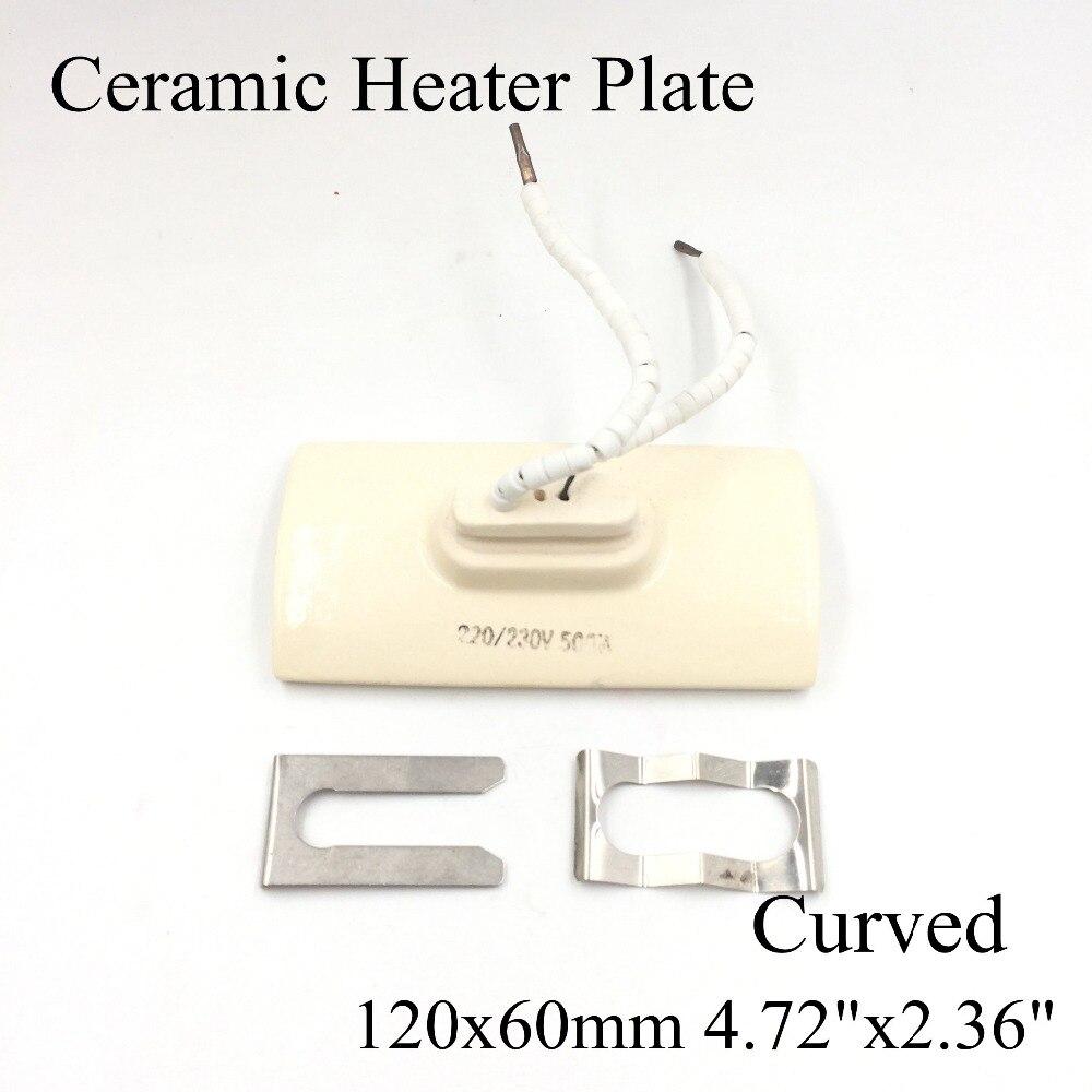 120*60mm Curved Vacuum Injection Molding Machine Repair Far-infrared IR Ceramic Heating Plate Air Ceramic Heater Board Pad
