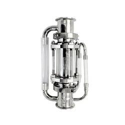 Extractor de Soxhlet de 2 51mm OD64mm para destilación. Volumen de la cesta 225 ml. Acero inoxidable 304