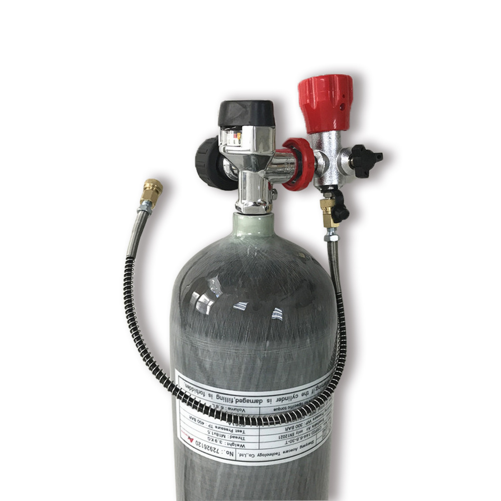 AC109201 New EN12245 Air Condor PCP Rifle SCUBA Diving 4500psi 6.8L Compressed Air Carbon Fiber Cylinder & Valve & Fill Station