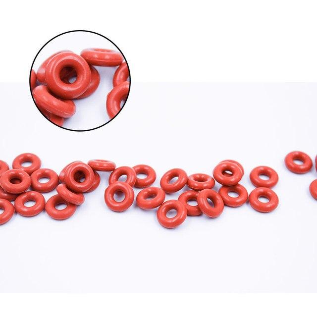 Joint torique joint Silicone rouge   1mm dépaisseur OD4/5/6/7/8/9/10/11/12/13mm, joint torique détanchéité en caoutchouc, 10 pièces/lot