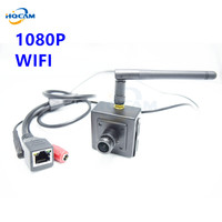 Onvif 1080P HD Mini Wifi IP Camera Wireless P2P Plug Play Mini SIZE 40x40mm Wifi Pinhole