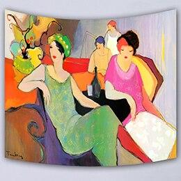 뜨거운 아름다운 아티스트 벽 매달려 장식 인쇄 태피스트리 담요 침대보 요가 매트 테이블 천으로 홈 침구