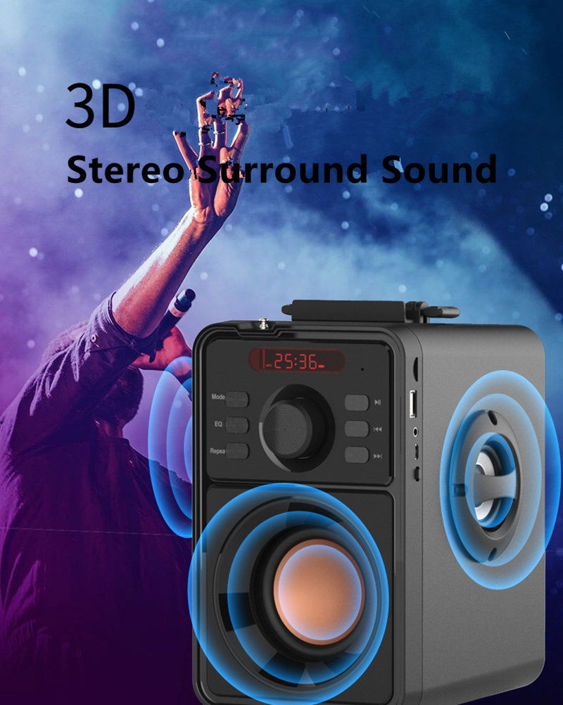 Details about 3000mAh Subwoofer Bluetooth 4 0 Speaker LCD Portable Wireless  2 1Stereo Soundbar