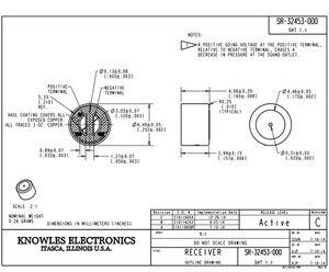 Image 2 - 2PCS SR 32453 נואלס מאוזן אבזור נהג מקלט רמקול אוזניות מכשיר שמיעה החלפת מקלט