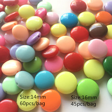 Meideheng acrylic colorful oval round beads for Jewelry making The child necklace supplies DIY kids self-control 14mm16mm 2 size