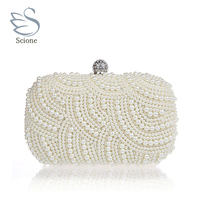 Factory New Design Pearl Diamond Evening Tote Party Bag Women Pearl Clutch Party Purses Fashion Evening