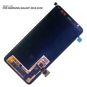 Image 5 - AMOLED LCD لسامسونج غالاكسي A8 2018 A530 A530F A530DS A530N SM A530N شاشة تعمل باللمس محول الأرقام LCD عرض الجمعية أدوات مجانية