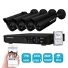 SUNCHAN 8CH 1080P AHD DVR 4PCS 2 0MP Day Night Vision Outdoor CCTV Camera Home Security
