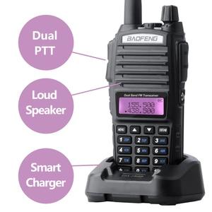 Image 2 - Baofeng UV 82 Walkie Talkie Dual PTT UV 82 Portable Two way Radio VHF UHF Ham CB Radio Station 1Pcs UV82 Jagd Transceiver