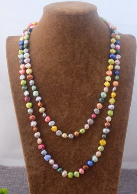 collier perle de couleur