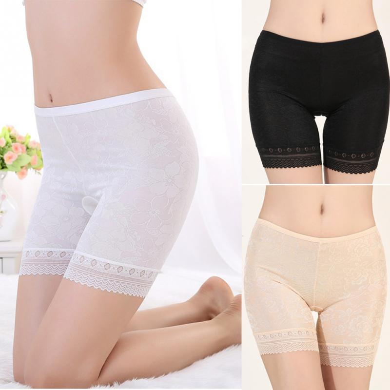 New Seamless Short Pants Stylish Jacquard Ice Silk Safety Short Underwears Women Great Elasticity Fits Comfortable Lingerie