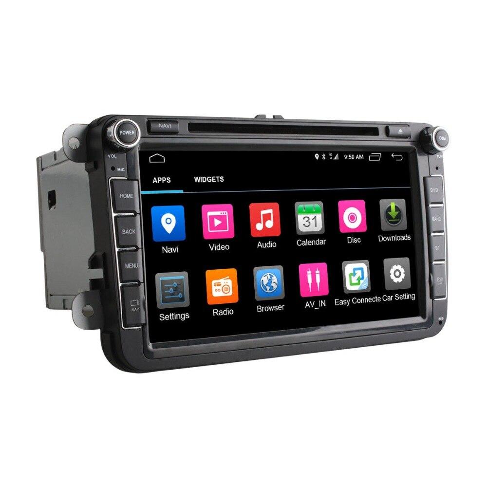 vehicel 4G SIM LTE Network C500 Octa 8 Core Android 6.0 2G RAM 2 Din Car DVD GPS Navi Radio Player For VW POLO Skoda Octavia