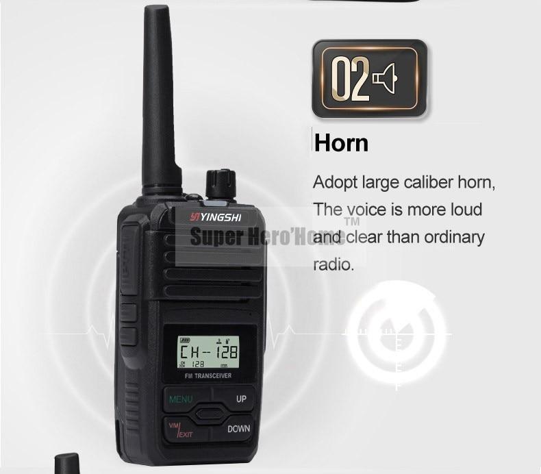YANTON מיני בודד בלהקת VHF 136-174 או UHF 400-480MHz נייד שני רדיו דרך 5W עמיד למים זכרון 128 ערוצי ווקי טוקי