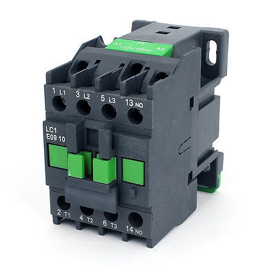 AC Contactor Motor Starter Relay 3-Phase Pole 1NO 110V Coil Voltage CJX2-0910 sayoon dc 12v contactor czwt150a contactor with switching phase small volume large load capacity long service life