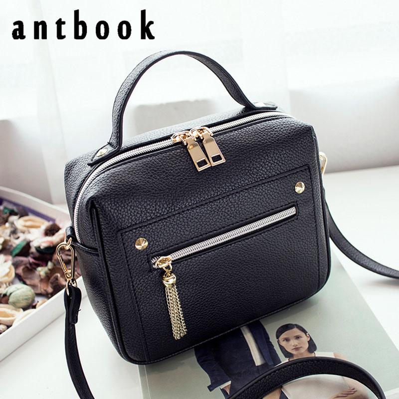 Tassel Pu Leather Solid Handbags Hotsale Ladies Shopping Bag Casual Shoulder Messenger Crossbody Bags