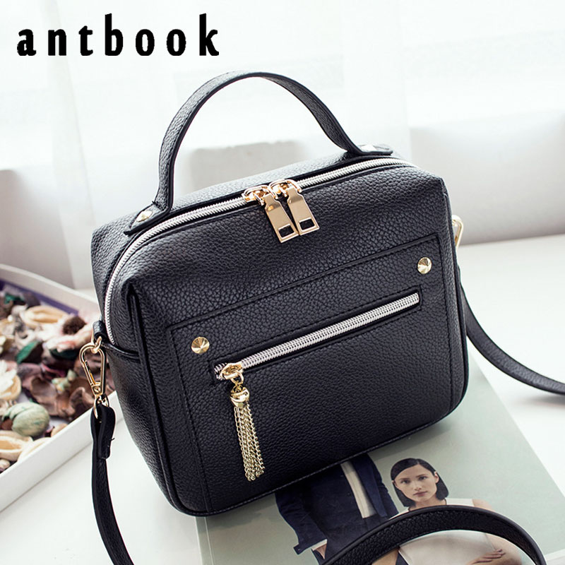 ANTBOOK 2017 New Fashion Pu Leather Solid Women Handbags Hotsale Ladies Shopping Bag Casual Shoulder Messenger Crossbody Bags ybyt brand 2017 new fashion cute round handle flap hotsale pu leather ladies shopping handbags shoulder messenger crossbody bags