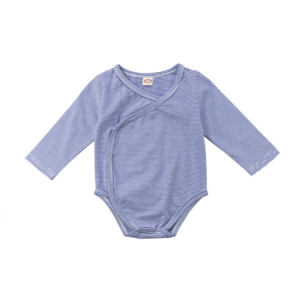 Striped, Outfits, Unisex, Cotton, Bodysuits, Long