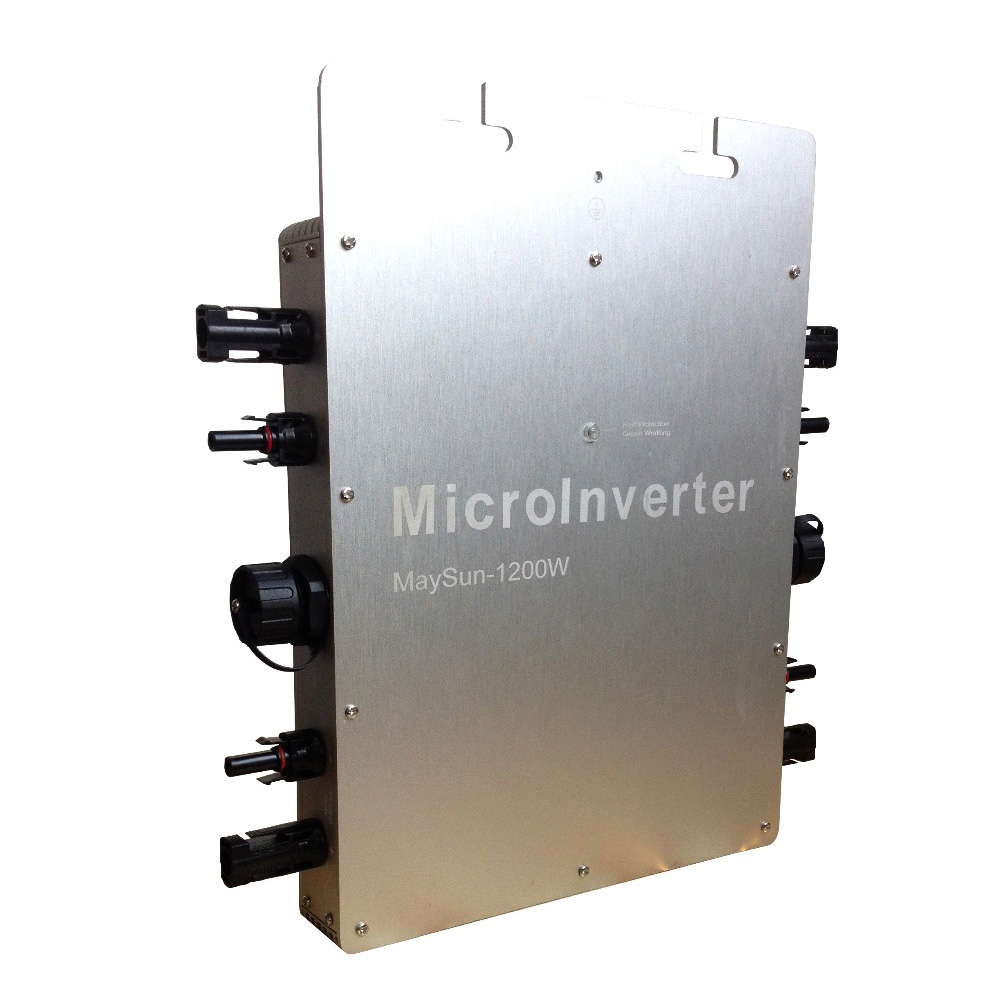 MAYLAR@ Maysun1200W 22-50VDC Waterproof  Pure Sine Wave On Grid Tie Micro Inverter With 4 MPPT Function накладной светильник dls 22 холодный белый maysun